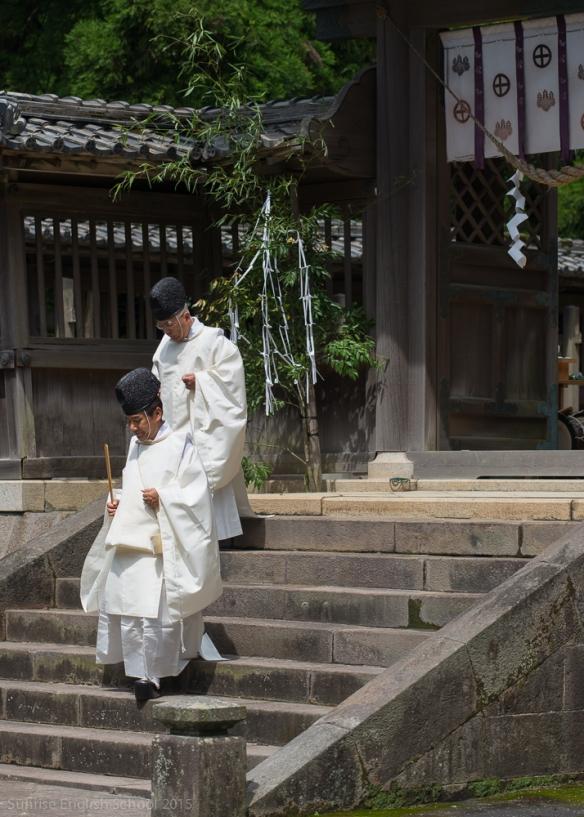 Priests Tsurumine Jinja